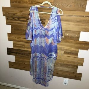 Kaitlyn colorful swimsuit coverup